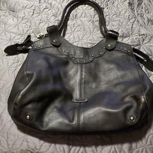 Frye Black studded purse